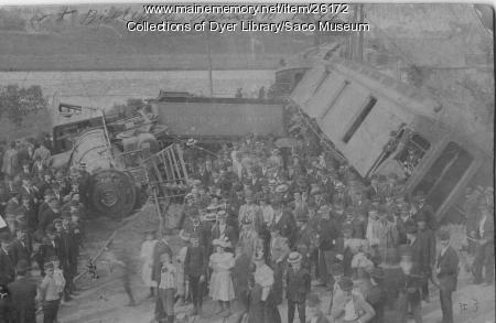 Train Wreck, Biddeford, 1894