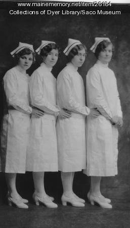 Webber Hospital Training School Graduates, Biddeford, ca. 1930