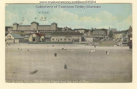 Old Orchard House from the end of pier, ca. 1915