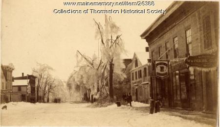 Ice Storm, Looking east on Main Street, Thomaston,  March 1888