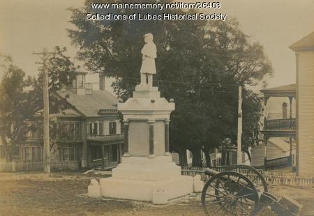 Soldiers' Monument, Lubec, ca. 1905