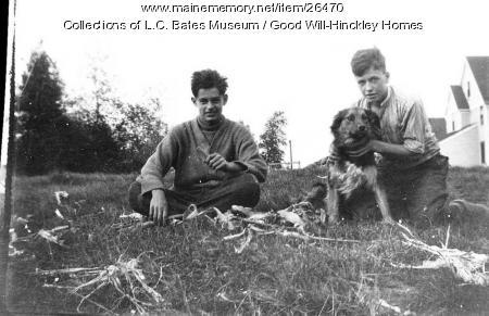 Boys and dog, Good Will Home, Fairfield, ca. 1920