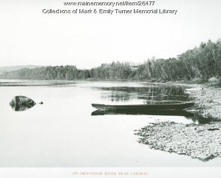 On Aroostook River, Caribou, 1895