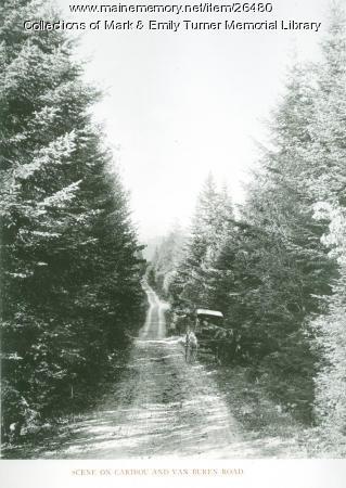 Scene on Caribou and Van Buren Road, 1895