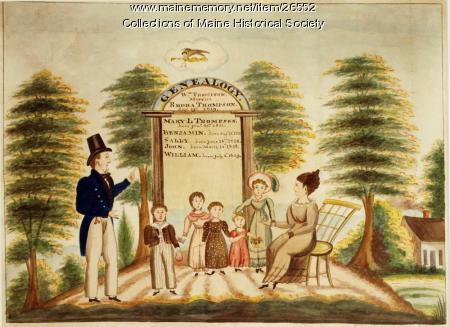 Genealogy of Wm. and Rhoda Thompson, 1831
