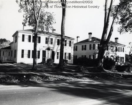 O'Brien and Ruggles Houses, Thomaston, ca. 1960