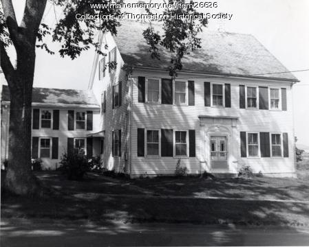The Hallowell House, Thomaston, ca. 1960