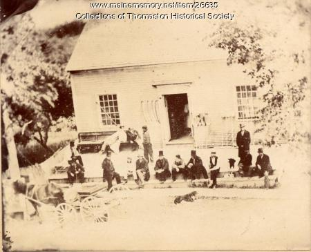At Levensaler Store, Thomaston, ca. 1870