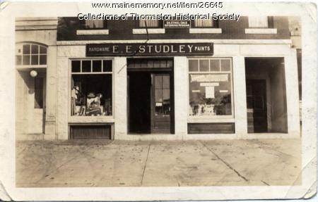 Studley Hardward Storefront, Thomaston, 1934
