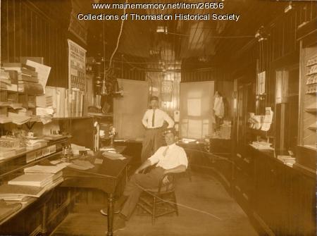 Interior Railroad Depot, Thomaston, 1914