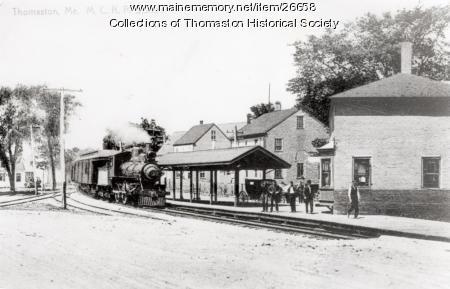 Railroad Depot, Thomaston. ca. 1900