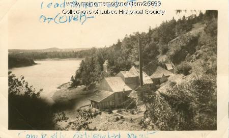 Lead mine, Lubec, ca. 1930