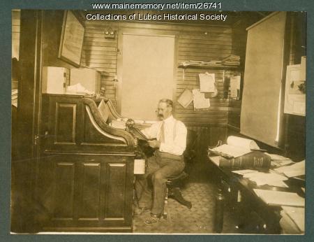 Robert James Peacock, Lubec Sardine Co., 1911