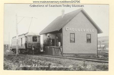 Electric Railroad. Station, Crouseville, 1939