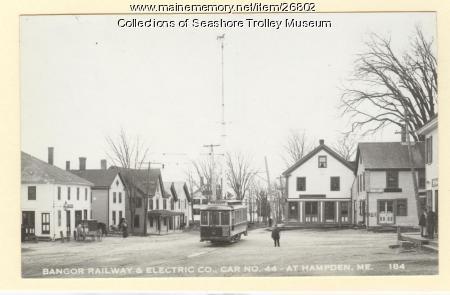 Bangor Railway & Electric Co. Car 44, Hampden, ca. 1905