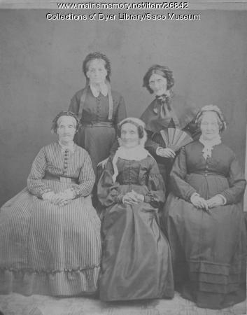 Cutts daughters, Saco, ca. 1875