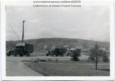 CCC lunch trucks, Augusta, ca. 1935