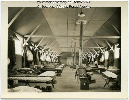 Dorm room, Jefferson CCC camp, ca. 1933