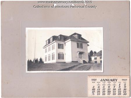 This object consists of a photograph of the Islesboro Town Hall,islesboro town