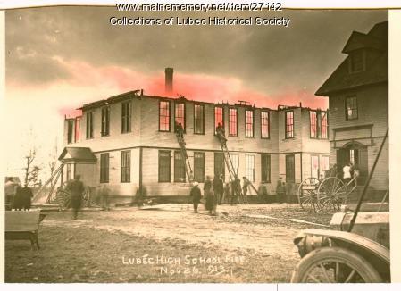 School fire, Lubec, 1913