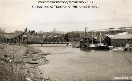 Georges River toward former tollbridge, Thomaston, 1946