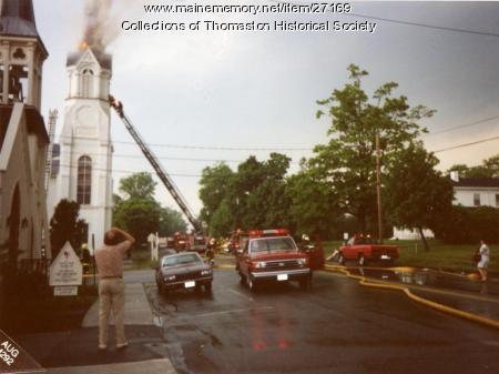 Lightning Strike, Baptist Church Steeple, Thomaston 1992