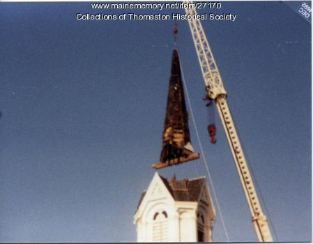 Steeple Removal, Baptist Church, Thomaston, 1992