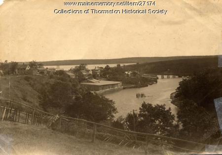 Looking southeast toward Wadsworth Street Bridge, Thomaston, ca. 1890