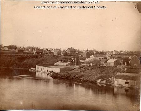 Georges River, looking north, Thomaston, ca. 1890