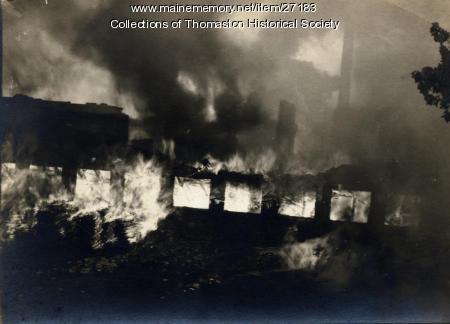 Prison Fire, Thomaston, 1923