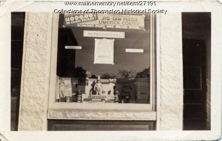 Studley's Window, Thomaston, 1934