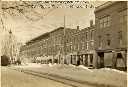 North side of Main Street Business Section, Thomaston, 1895