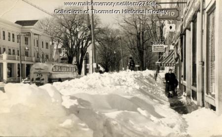 Winter on Main Street, Thomaston, 1952