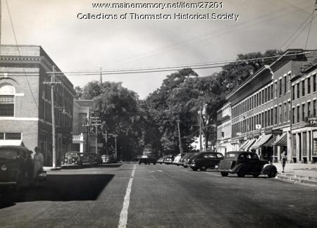 Looking West on Main Street, Thomaston, ca. 1947