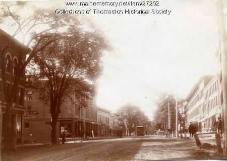 Trolley, Main Street, Thomaston, ca. 1900