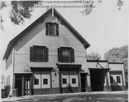 Old Fire Station, Saco, ca. 1937