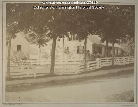 Lydia Abbott Titcomb and Pine Tree Cottage, Farmington,  circa 1875