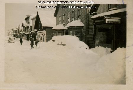 Snow on Water Street, Lubec, 1943