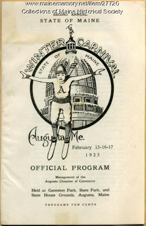 Maine Winter Carnival program, Augusta, 1923