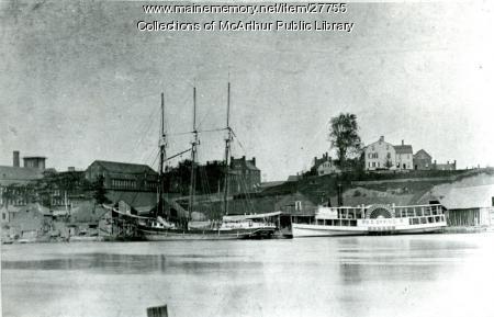 S. E. Spring at Factory Island Wharf, ca. 1885