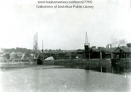 Coal docks, Factory Island, Biddeford, ca. 1912