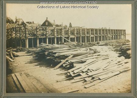 Construction of Factory B, Lubec Sardine Company, Lubec, ca. 1910