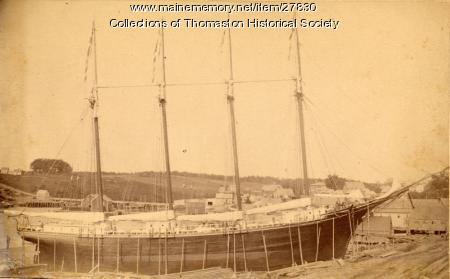 Schooner Ella M. Willey, Thomaston,  1891