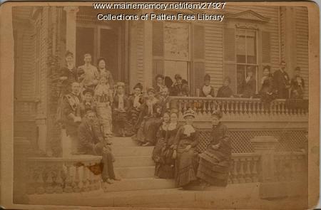 Galen Moses and friends, Bath, ca. 1890