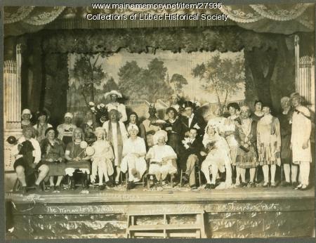 Theatrical event, Lubec, 1929