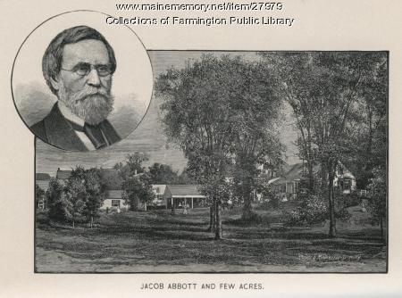 Jacob Abbott and Fewacres, Farmington, 1903