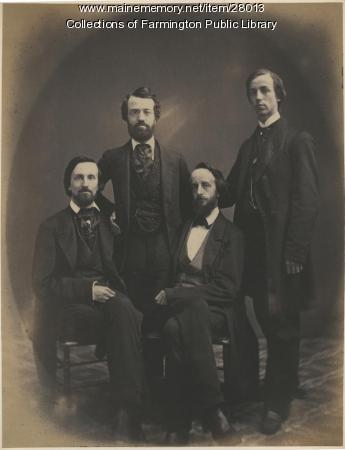 Four sons of Jacob Abbott, Farmington, ca. 1865