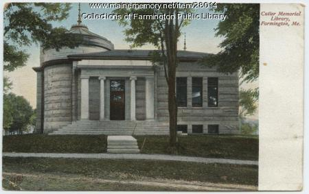 Cutler Memorial Library, Farmington, 1903