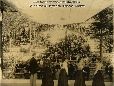 Riverside Park stage, Hampden, circa 1910