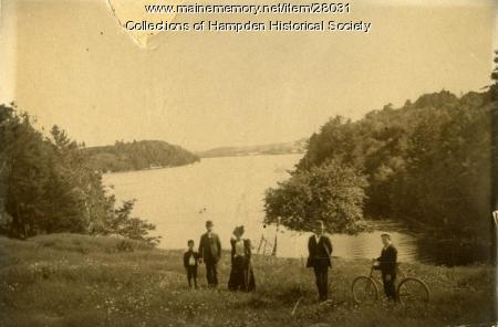 Penobscot River from Riverside Park, Hampden, ca. 1900